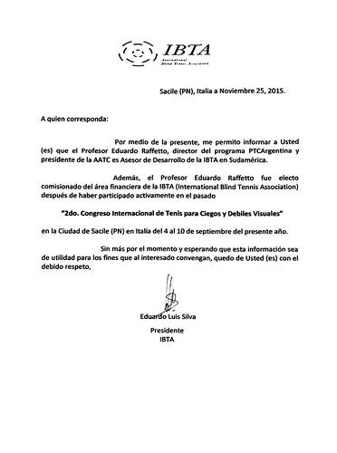 Documento Oficial  IBTA - Asesor de Desarrollo para Sudamérica | by tenisparaciegos