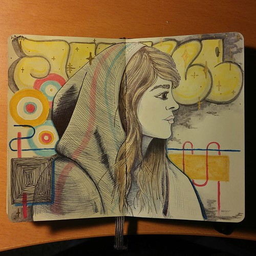 It's been a bit...only a few pages left in this moleskine #girlsinhoods #artisalchemy #moleskine | by ASF_