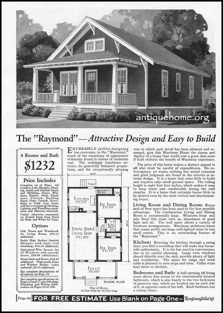 1928 Montgomery Ward Kit House~The Raymond | Mail order home