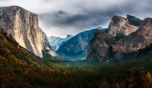 california county travel autumn trees usa cloud mist mountain mountains tree fall clouds forest canon landscape nationalpark october unitedstates cloudy outdoor overcast valley yosemite yosemitenationalpark dslr elcapitan mariposa yosemitevalley tunnelview 70d canon70d