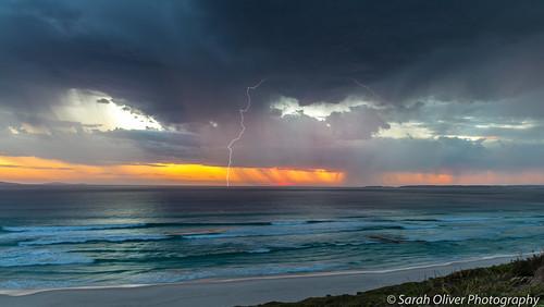 ocean sunset night canon drive au great australia observatory bolt strike lightning westernaustralia 6d westbeach esperance