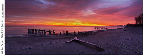 panorama beach clouds sunrise dawn nikon frost gimp lakeontario opensource winona grimsby groynes niagaraescarpment hugin d7100 rawtherapee fiftypoint nikkor18105mmvr
