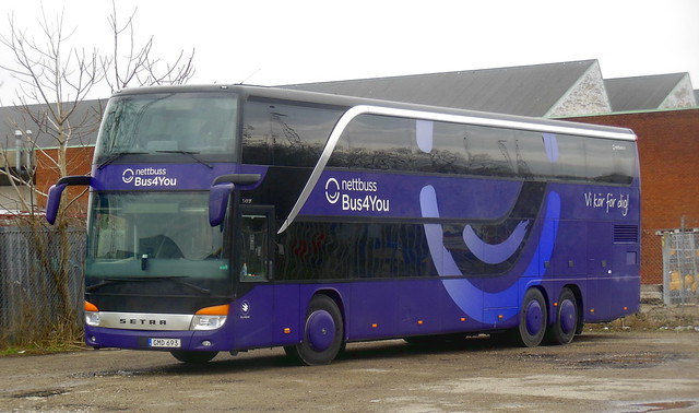 Nettbuss Setra S431 GMD693 route 300 layover
