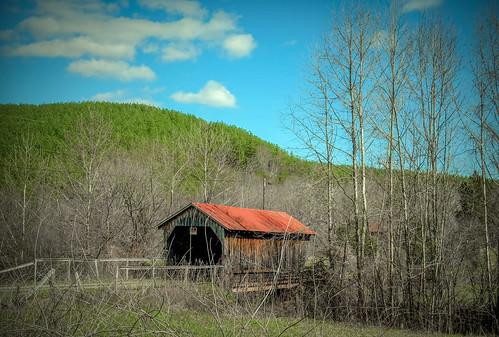 sky clouds rural rustic gretna coveredbridge fujifilm xt1 bobbell pittsylvania