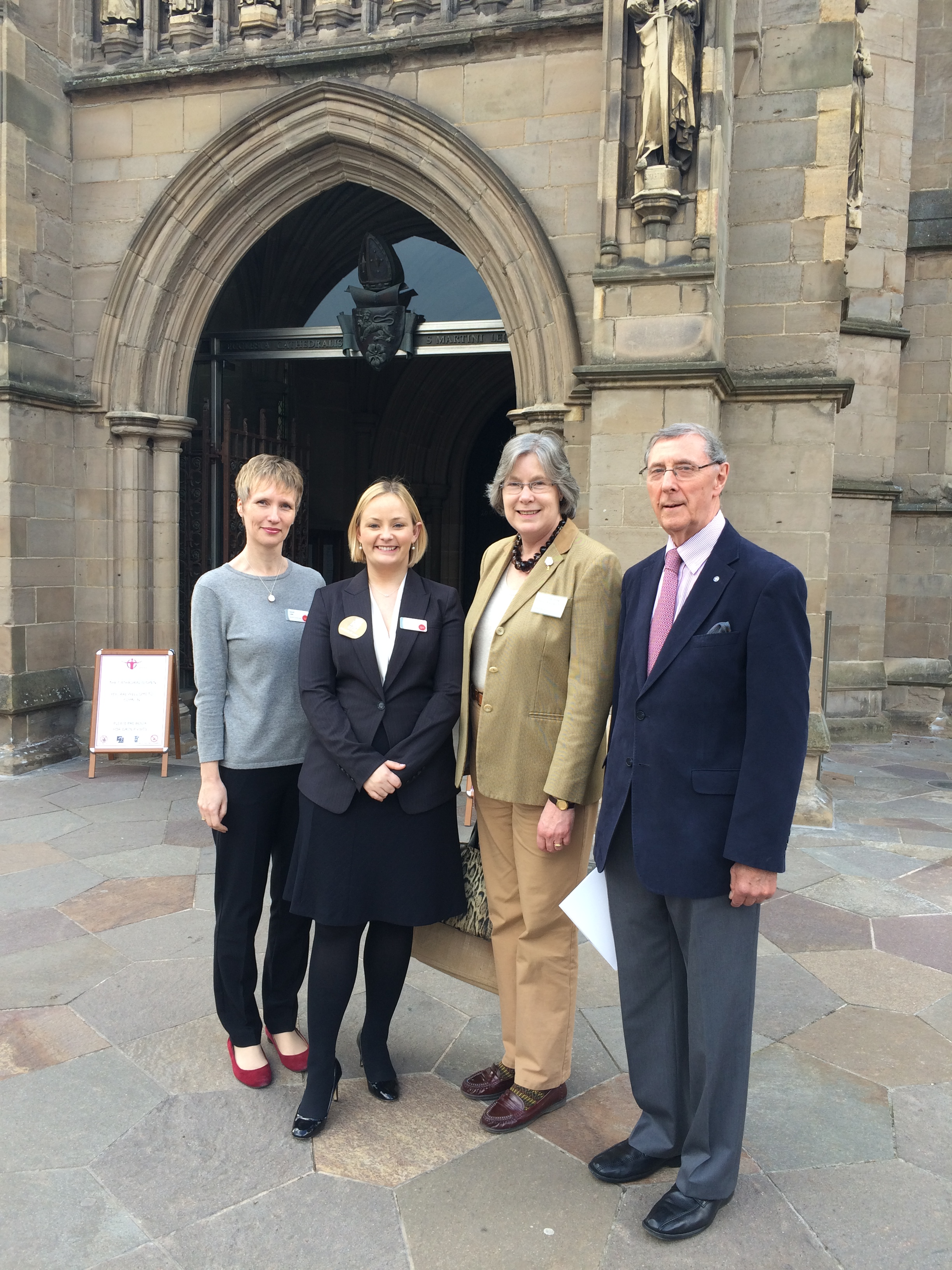 Janet Law and Emily Beahan (National Churches Trust) with Janet Arthur and David Knowles (Leicestershire Historic Churches Trust)