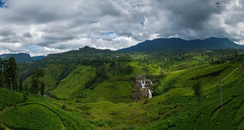 november vacation panorama landscape waterfall srilanka 2015 centralprovince talawakelle