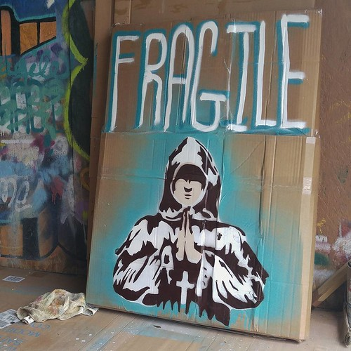 After a few months of painting, this commission is finished, packaged and heading to Las Vegas. More pics and print release coming soon. Hopefully the FedEx can't miss that this package is F R A G I L E  #artisalchemy #fragile | by ASF_