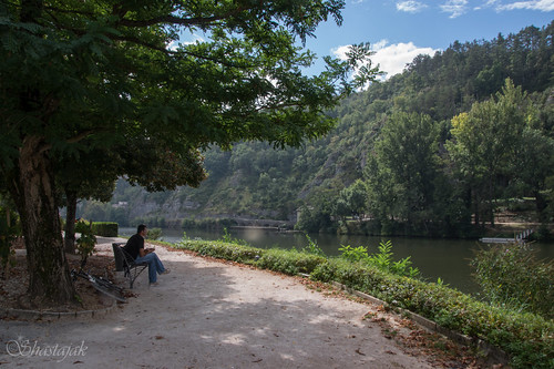 bicycle river bench lot cahors southwestfrance