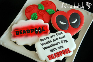 Deadpool Valentine cookies. | by navygreen