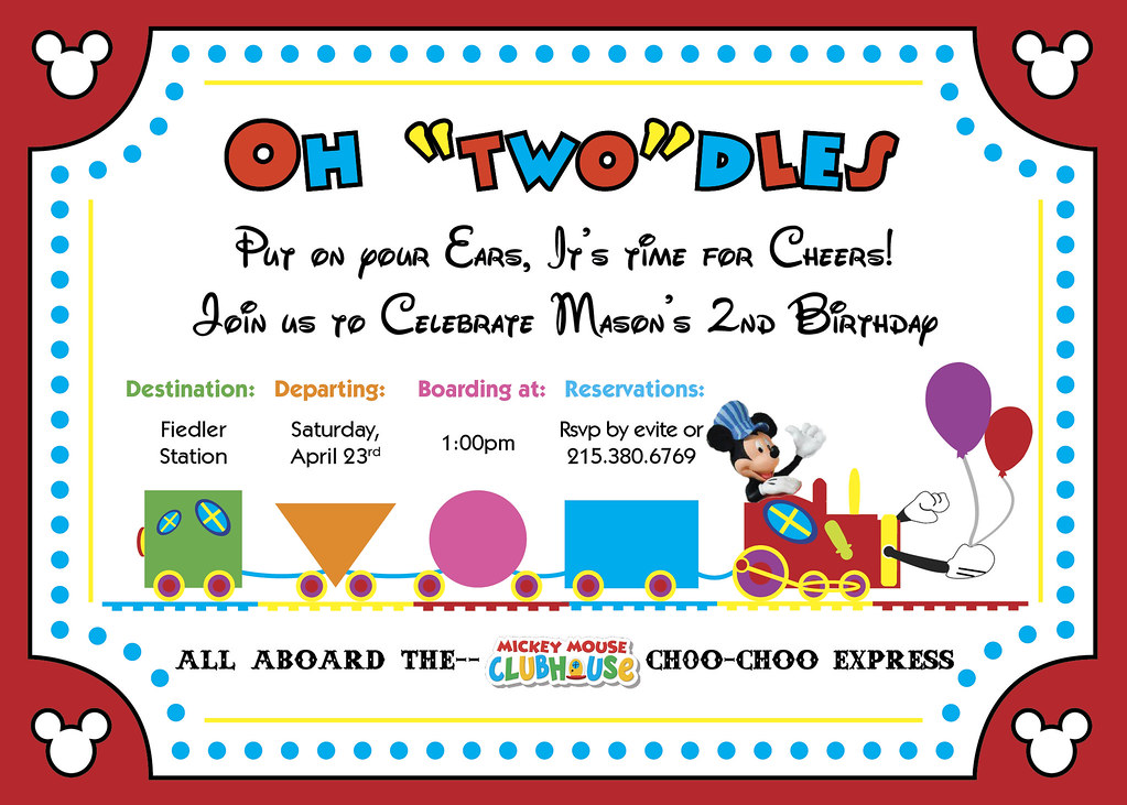 Mickey Mouse Clubhouse Choo Choo Express Invitation Flickr