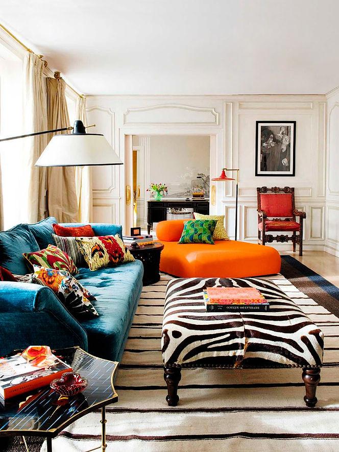 Bold Colorful Home Decor Inspiration Living Room Decorat