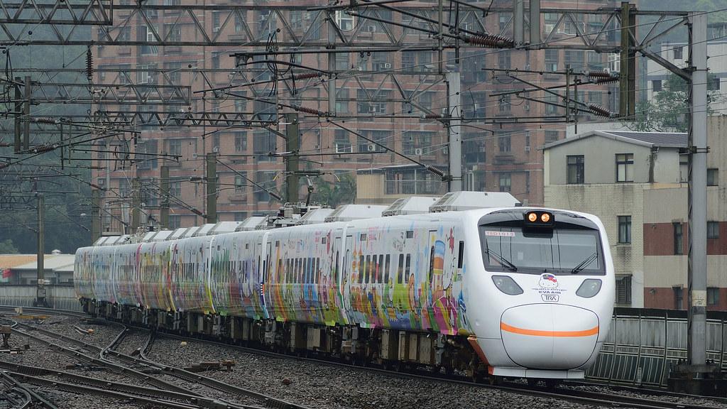 新太魯閣 Hello Kitty 彩繪列車