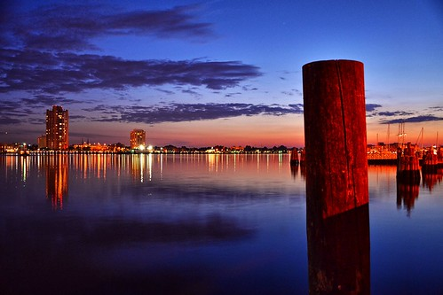 sunset shadow reflection water night clouds river landscape virginia elizabeth dusk norfolk va portsmouth piling