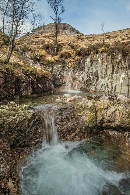 Glen Coe Waterfall Double Drop .. Scotland