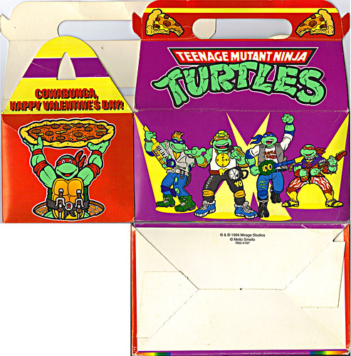 "MELLO SMELLO :: ""TEENAGE MUTANT NINJA TURTLES"" Valentine Kit .. ""POP-UP"" tote box i (( 1994 )) by tOkKa"