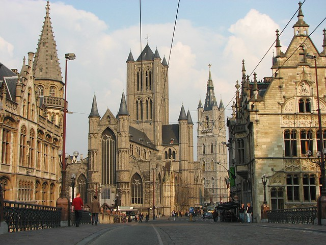 Ghent Cathedral 3 Cathedrals In Ghent Belgium Drocpsu