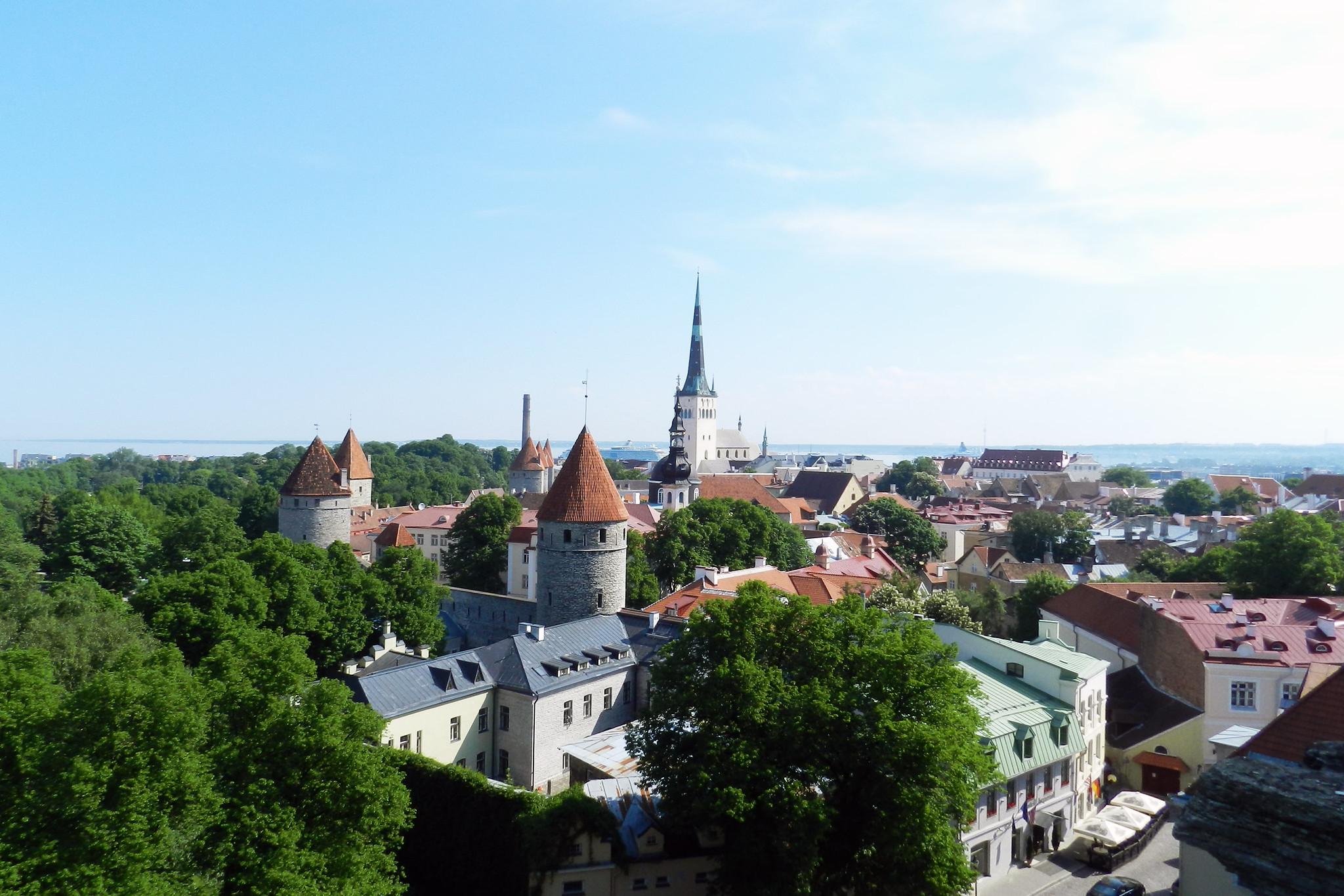 Vista desde Toompea Ciudad Alta Casco Histórico Tallin Estonia
