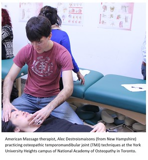 NAO student -American Massage therapist, Alec Destroismaisons (from New Hampshire) .