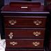Mahogony 3 drawer locker