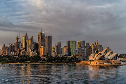 sea sky architecture sunrise canon ship widescreen sydney australia circularquay nsw 1855mm operahouse hdr kevinwalker canon1100d