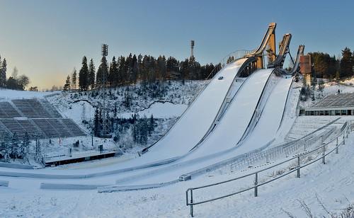 winter hyppyrimäet skijumpinghills skijumping skijump skiingstadium sport urheilu landscape maisema snow lunta extreme finland suomi nikon frost pakkanen d3200 nikond3200 europe
