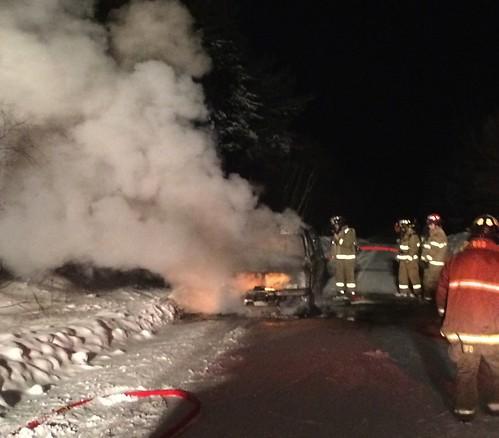 car fire south range feb 12 AL | by digby fire dept