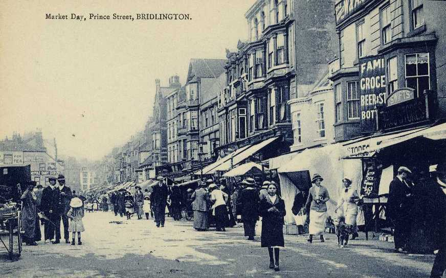 Bridlington Prince Street on Market Day c.1900 (archive ref PO-1-20-61)