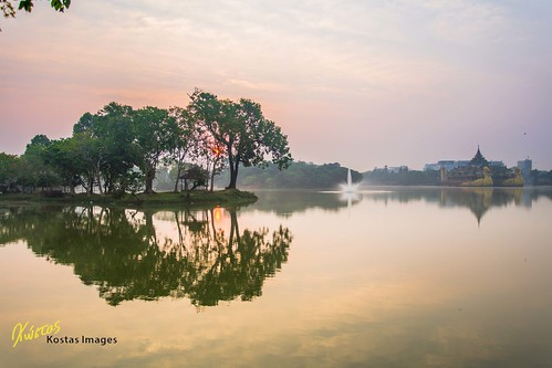 park travel trees sky sun lake reflection nature water beautiful sunrise canon landscape outdoors temple asia flickr yangon burma myanmar 6d 500px kantawgyi ef1740f4 instagram kostasimages