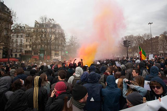 Manifestation contre la loi du travail Paris 09 avril 2016