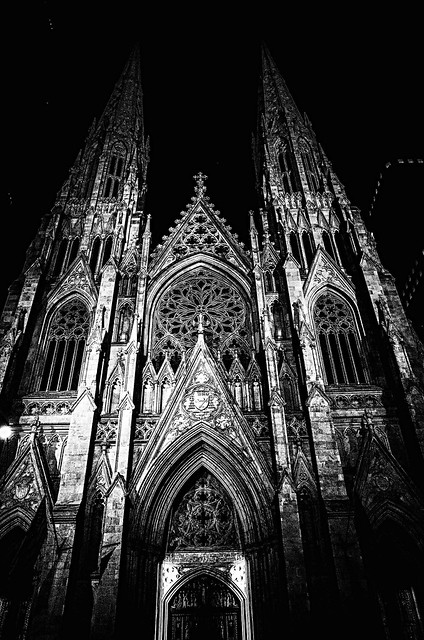 Night Falls on St. Patrick's Cathedral.
