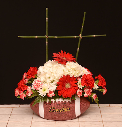 Football Flowers — The Rittners School of Floral Design, Boston | by Flower Factor