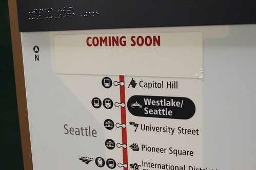 New Link map at Westlake Station