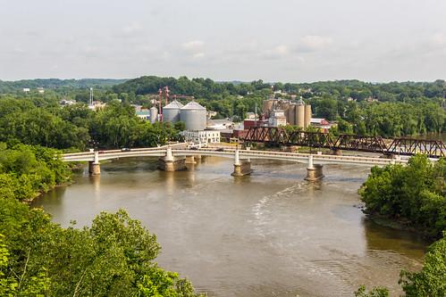 bridge ohio water river rivers zanesville muskingumcounty