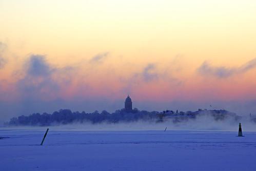 Suomenlinna silhouette in the dawn fog, Helsinki | by Andrey Sulitskiy
