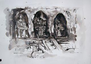 Ida Bagus Asmara Wirata (Gus Chenk) , 29 x 42 cm, Ink on Paper, 2016