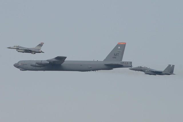 U.S./ROK Aircraft Conduct Bilateral Overflight of the Korean Peninsula