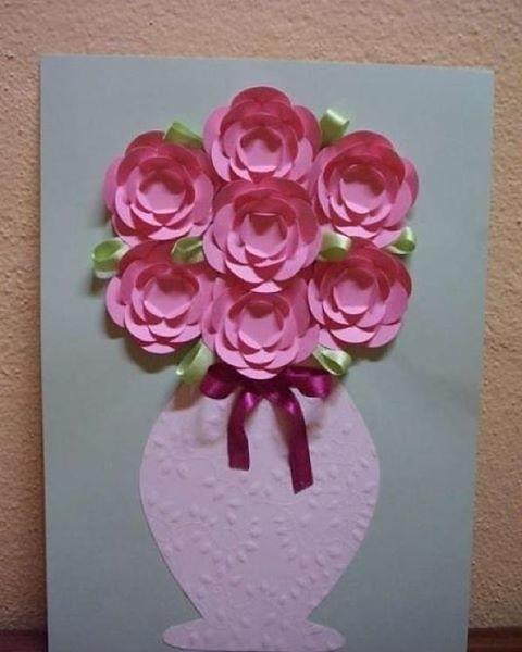 Blumenvase Aus Papier Mit Blumen Basteln Anleitung D Flickr