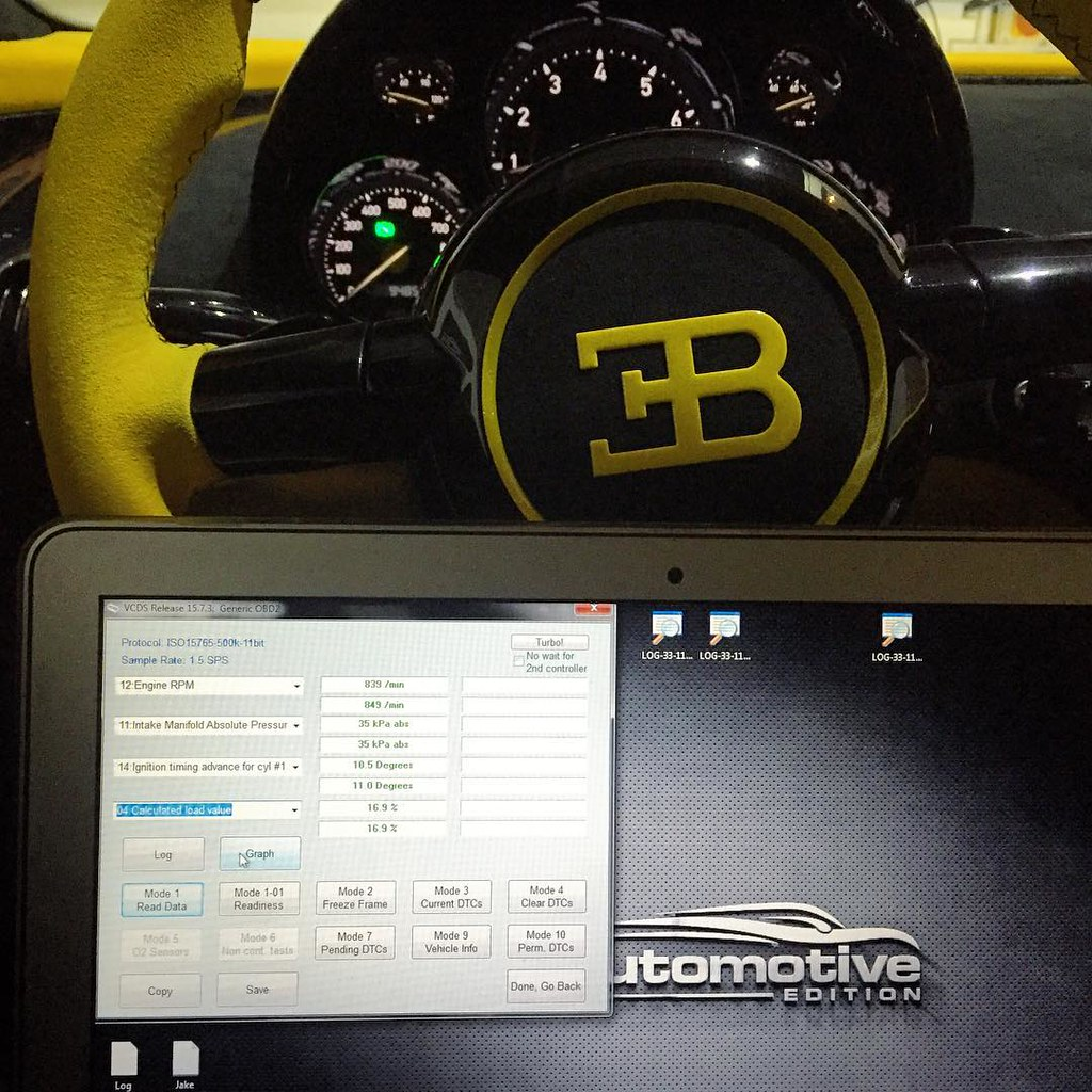 Data logging the Veyron to make the perfect tune  It doesn