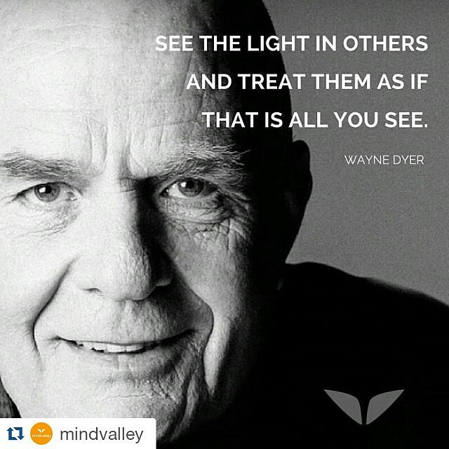 #Repost @mindvalley ・・・ If there's anyone who could only see the light in others around him, it's Wayne Dyer. Thank you for inspiring us all, Dr. Dyer.