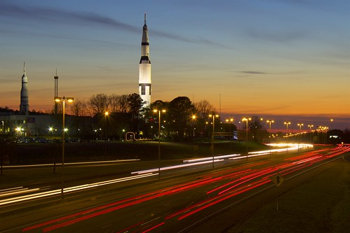 sunset timelapse huntsville space alabama nasa rocket aerospace saturnv spaceandrocketcenter spacecamp tranquilitybase