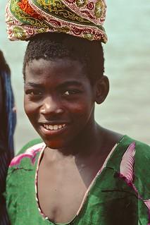 Young porter at Lake Volta, Ghana