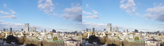 Central of Sendai, 4K UHD, stereo parallel view