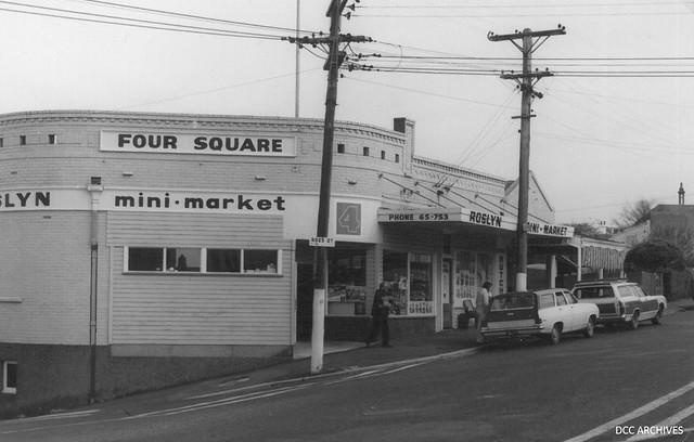 Roslyn Mini Market, corner of Ross Street and Highgate c1970s