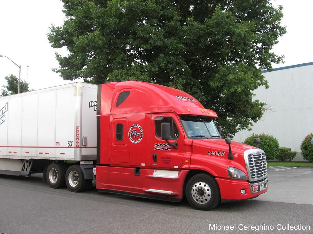 Red Gordon Trucking Freightliner Cascadia Evolution, Truck