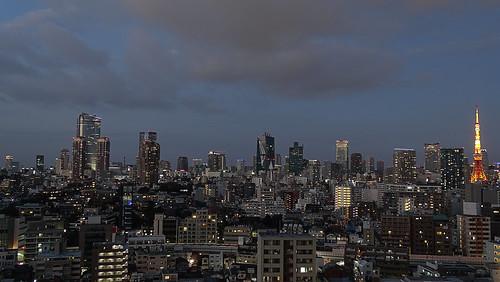 japan tokyo dusk tokyotower minatoku