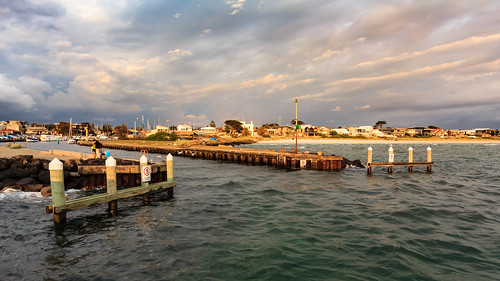 sea water clouds outside outdoors coast pier harbour jetty scapes portphillipbay