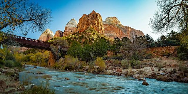 The Virgin River in Zion National Park, Utah