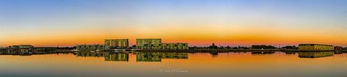 blue panorama orange architecture sunrise reflections landscape newquay australia adelaide southaustralia portriver portadeleide