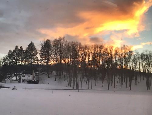 winter sunsets westvirginia farmlife summerscountywv amtrakviews