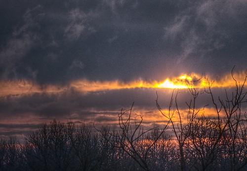 sun clouds sunrise pentax arbres forêt contrejour quercy